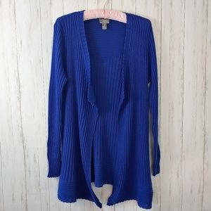 CHICOS Large Travelers Wool Blend Open Cardigan 2